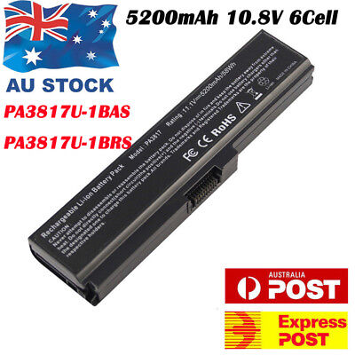 Laptop Battery PA3817U-1BRS Li-ion 6 Cell for Toshiba Satellite L750 L750D Lot