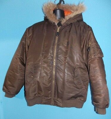 Brown Parka Extreme Cold Weather Cocoa/Brown Men's Size Large