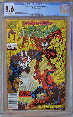 AMAZING SPIDER-MAN #362 (1992) CGC 9.6 (NM+) White Pages (NEWSSTAND EDITION)