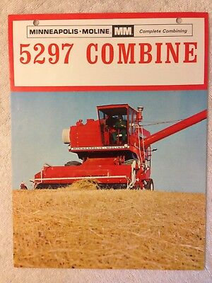 Vintage MM Minneapolis 5297 Combine brochure dealer harvester sales advertising