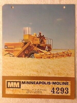 Vintage MM MInneapolis Moline 4293 combine harvester brochure dealer advertising