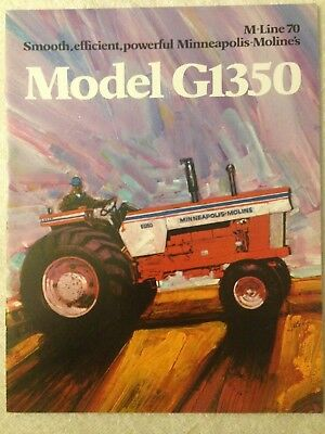 MM Minneapolis Moline G1350 tractor brochure M-Line 70 White tractor brochure