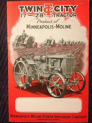 Vintage 1929 Twin City 17-28 tractor brochure Minneapolis Moline antique power
