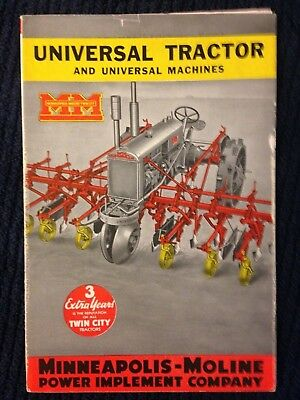 MM Minneapolis Moline Universal Machines implement Twin City tractor brochure