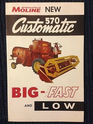 Vintage MM Minneapolis 570 Customatic Harvester brochure sales
