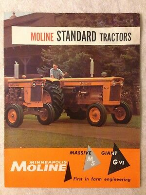 Vintage MM Minneapolis Moline standard M5 GVI tractor brochure advertising