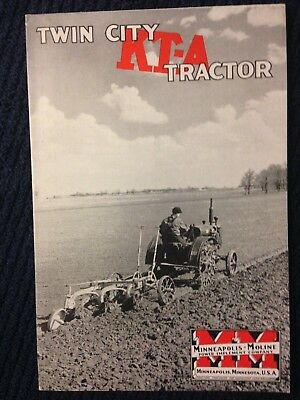Vintage MM Minneapolis Moline Twin City KTA tractor brochure advertising
