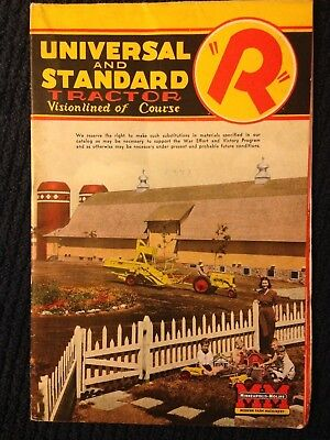 MM vintage Minneapolis Moline Universal Standard R tractor brochure advertising