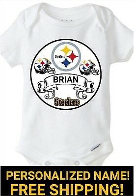 Pittsburgh Steelers Onesie Personalized Name Boy/girl 3-9 Month Or 12 Month