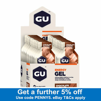 GU Energy Gel - CHOCOLATE OUTRAGE - 24 Pack