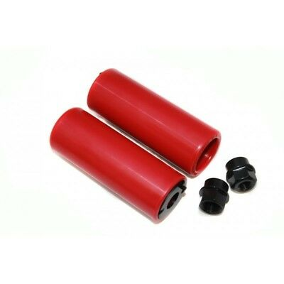 Coyote BMX Bike Bicycle 10/14MM Axle Nylon Stunt Pegs Colour Red New Sealed