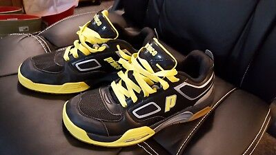 Prince NFS Indoor Court Shoes - Mens Size 9 Med - NEW - Black/Yellow!
