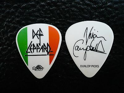 Def Leppard Guitar Pick! Vivian Campbell Irish Flag Guitar Pick!