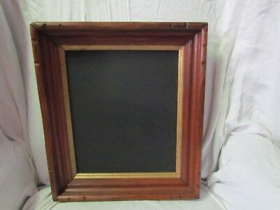 "Antique Hand Carved Walnut Picture Frame Chalkboard Pic Size 10 1/8"" X 12 1/8"""