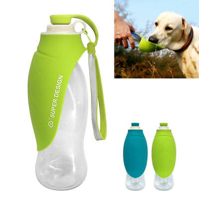 650ML Portable Pet Dog Bottle Outdoor Travel Water Bowl Feeder Drinking Fountain