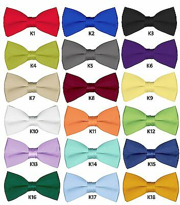 Mens Wedding Bowties 6 Pcs Wholesale Bow ties for Adult Solid Pretied Bowties