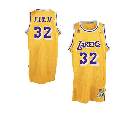 27326fa28b6 NBA Los Angeles Lakers Adidas 1979-1980 Magic Johnson 32 Hardwood Classic- Jersey