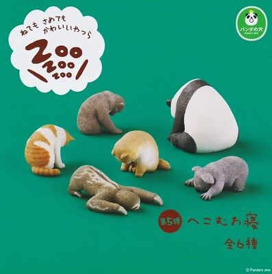 Takara Panda's ana Zoo Zzz Sleeping Animal Schlafen Tier P5 Completed Set 6pcs