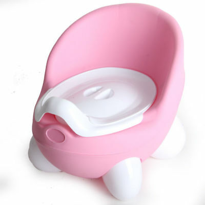 Clean Kids Infant Toddler Baby Potty Loo Training Seat Toilet Trainer Chair Pink