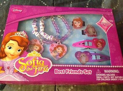 Disney Sofia The First Best Friends Gift Set 2 Bracelets, 2 Snap Clips & 2 Rings