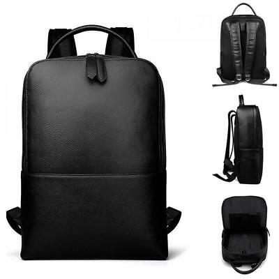 Mens Rucksack Business Laptop bag School bag Leather Backpack Daypack Large New