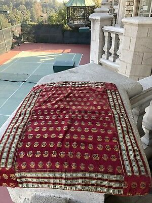 Auth: 19th C antique Brocade Silk Textile Rare Orientalist Collectors Pc  No Res