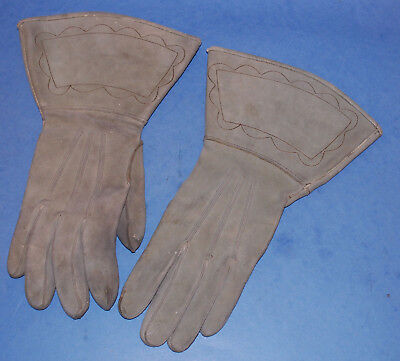 Rare Original U.S. Cavalry Suede Leather Gauntlets / Gloves Contract Dtd 1902