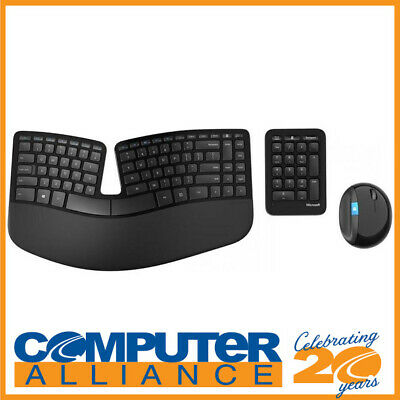 Microsoft Wireless Sculpt Ergonomic Keyboard and Mouse PN L5V-00027