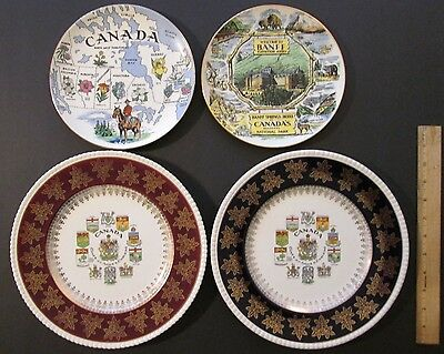 Four Vintage Canada Plates by Royal Winton & Simpsons ~ Made in England ~ Banff!