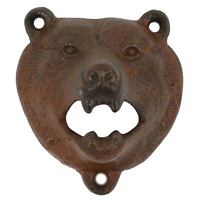 Gift Pro  Cast Iron Wall Mount Grizzly Bear Teeth Bite Bottle Opener (Sty... New