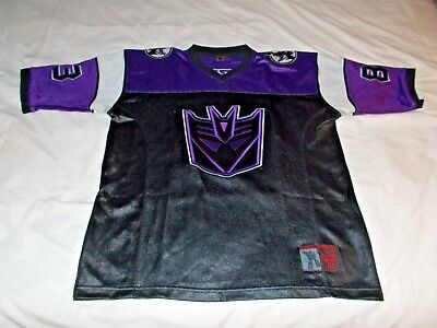 Transformers #83 Purple Embroidered Football Style Jersey Adult Medium