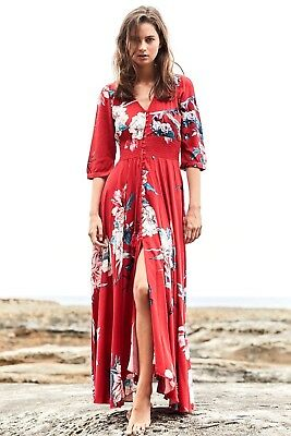 Jaase Women's Indiana Maxi Dress Lovers Passion Print Sizes Xs-Xl