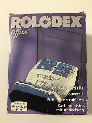 Vintage 1990s NEW Rolodex Office Covered Card File 2 1/4 by 4 Inch Cards 67093