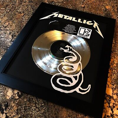 Metallica Black Album Platinum Record Disc Album Music Award MTV RIAA