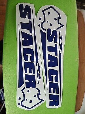stacer decal stickers large x 2 boat car ute trailer fishing