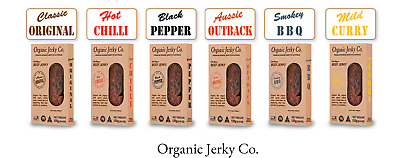 125g Pack Beef Jerky Organic Jerky Co - Pick Your Flavour NITRATE FREE