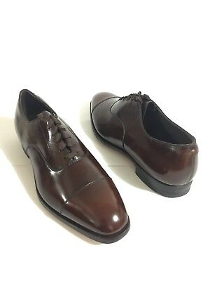 Vintage NOS Johnston and Murphy Aristocraft Blk Cap Toe Brogue sz 13 C