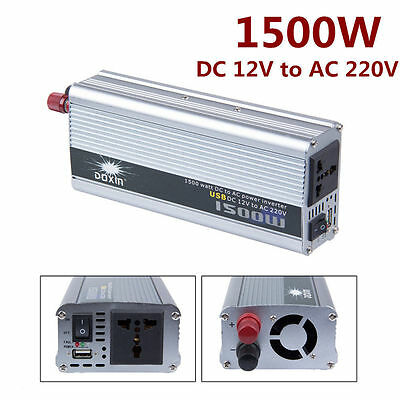 1500W Car DC 12V to AC 220V Power Inverter Charger Converter for Electronic CC