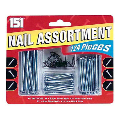 Black Silver Nails Set Assorted Nail Wood Panel Masonry Building DIY Assortment