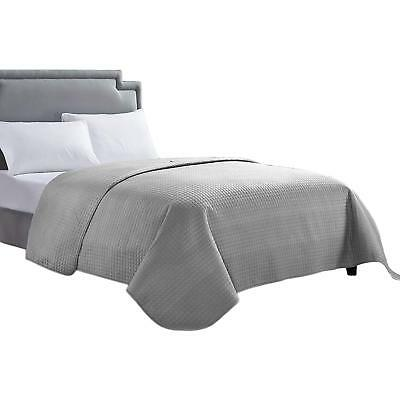 Solid Single Bed Quilt Cover Bedspreads Twin Full Queen King Grey