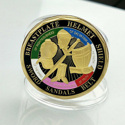 Put on the Whole Armor of God Commemorative Coin Gold Plated Souvenir New