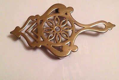 Quality Heavy Victorian Cast Brass Flat Iron Or Kettle Trivet Collectable Lovely