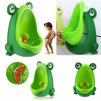 Frog Boy Kids Baby Toilet Training Children Potty Pee Urine Home Bathroom BK