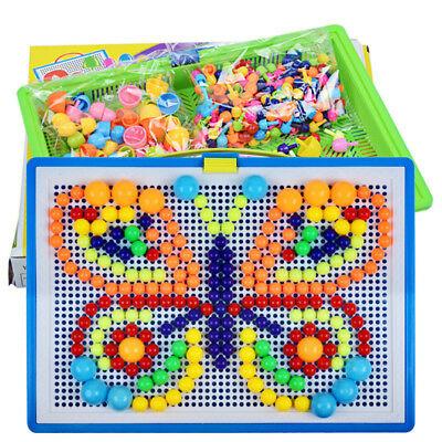 Creative Gift Puzzle Peg Children Board With 296 Pegs For Kids Educational Toys