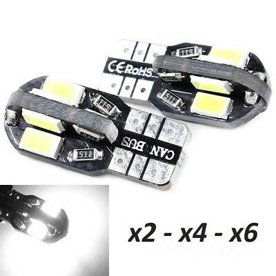 Bombillas T10. LED Canbus, 8SMD 5630 5W5 DC12V, NO ERROR, CE RoHS.