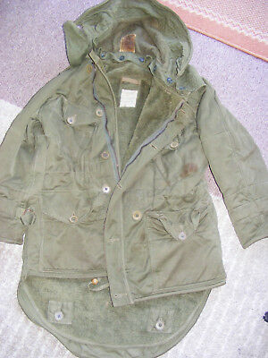 Korean War 1950 to 1953 British Army Middle Parka Jacket 1952 Pattern Hood