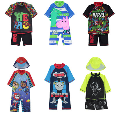 Boys Sun Protection Swimwear UV Sunsafe Surfsuits All Sizes NEW BNWT