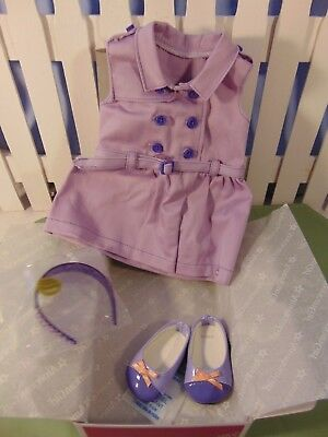 American Girl Travel in Style outfit w/ shoes Headband 3pc Complete NIB Gr8 Gift