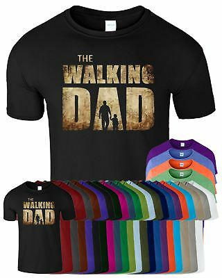Father Day The Walking Dad Mens TShirt Funny Dead Parody Son Top Tee Dad T-Shirt