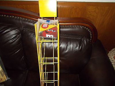 RARE M&M Mars Collectors Display NEW Hanging Rack Metal Display Rack 4 -Tier New